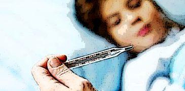 influenza termometro poster