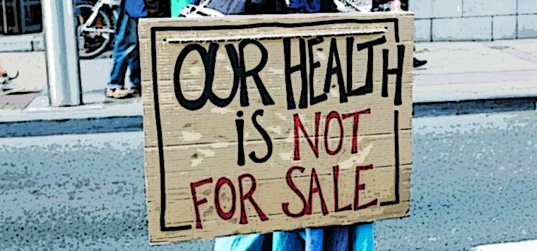 Mobilitazione europea contro la commercializzazione della salute