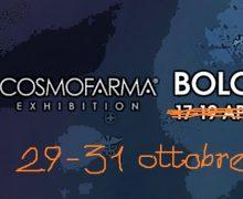 Cosmofarma, riprogrammate le date: si terrà a Bologna dal 29 al 31 ottobre prossimi